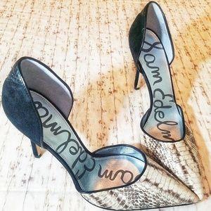 Sam Edelman Delilah Ivory D'orsay Heels 9.5 NWOB